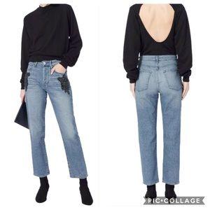 3x1 Burke Beaded Embroidered Boyfriend Crop Jeans